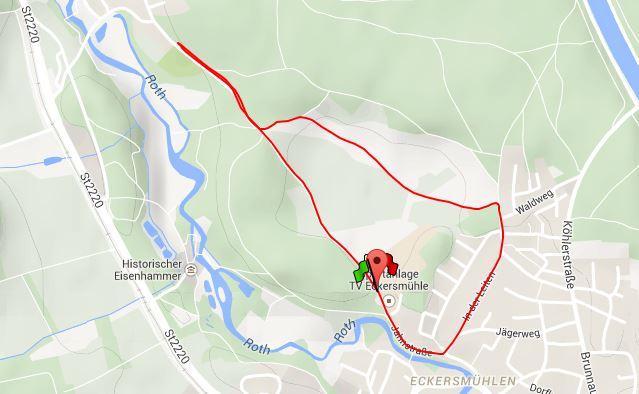 Laufstrecke-Dorflauf